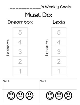 goal-sheets
